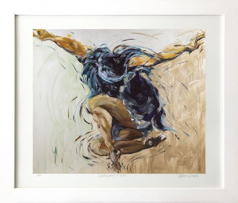 Limited Edition In Frame Contemporary In Blue