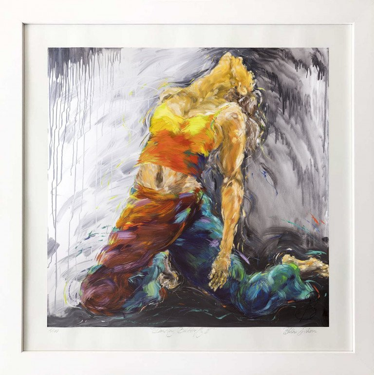 Limited Edition In Frame Dancing Butterfly II